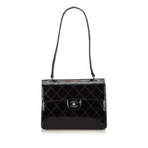 Chanel Patent Leather Single Flap Shoulder Bag