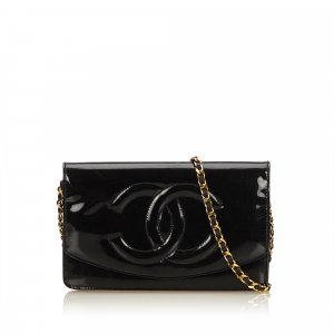 Chanel Portafogli nero Finta pelle