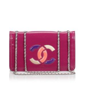 Chanel Shoulder Bag pink imitation leather