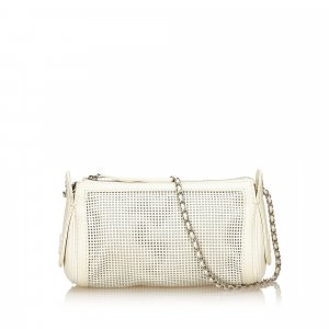 Chanel Perforated Caviar Leather Chain Bag