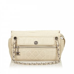 Chanel Perforated Leather Chain Bag