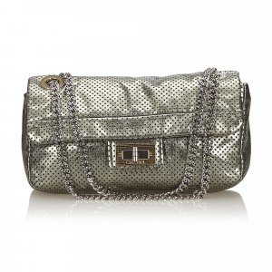 Chanel Perforated Leather Flap Bag