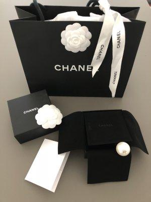 Chanel Haarband wit-zwart