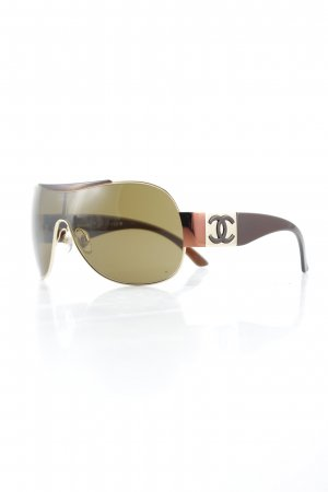 Chanel Aviator Glasses gold-colored-brown elegant