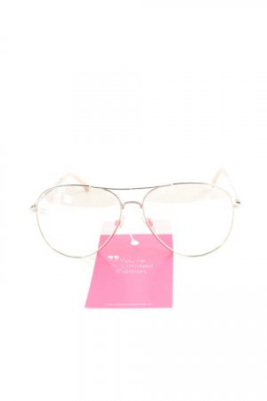 Chanel Pilot Brille silberfarben-rosé Elegant
