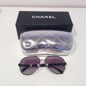 Chanel Pilotenbrille Collection MIROIR in Schwarz