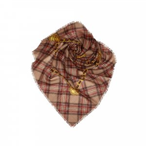Chanel Plaid Cashmere Silk Scarf