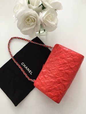 Chanel pochette koralle rot taache limited edition lucky charm