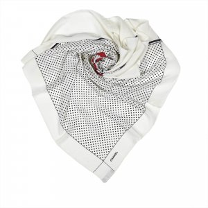 Chanel Polka Dot Silk Scarf
