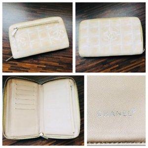 Chanel Portafogli bianco sporco-argento