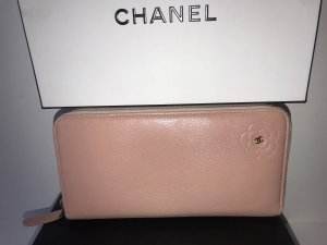Chanel Wallet pink-dusky pink leather