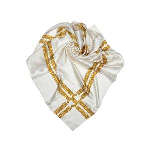 Chanel Bufanda blanco Seda