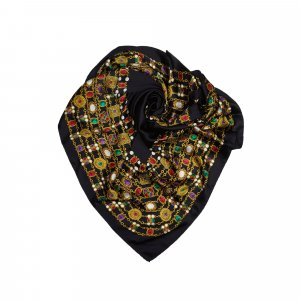 Chanel Bufanda negro Seda