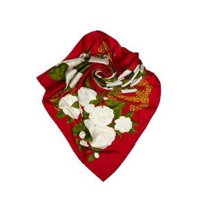 Chanel Bufanda rojo Seda