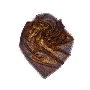 Chanel Sciarpa marrone scuro Seta