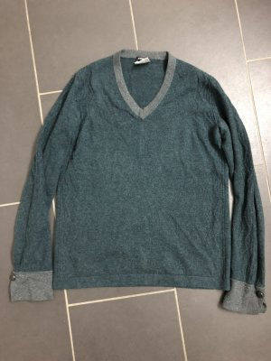 Chanel Coarse Knitted Sweater petrol-silver-colored mixture fibre