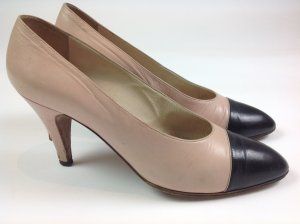 Chanel Pumps Gr. 38 rosa schwarz