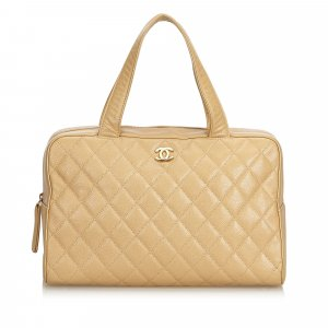 Chanel Quilted Caviar Boston Bag