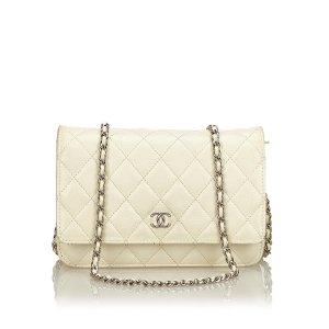 Chanel Portafogli bianco Pelle