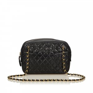 Chanel Quilted Lambskin Leather Chain Bag
