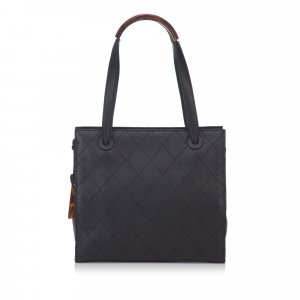 Chanel Quilted Matalesse Leather Handbag