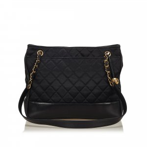 Chanel Quilted Nylon Chain Bag