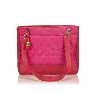 Chanel Quilted Nylon Chain Shoulder Bag