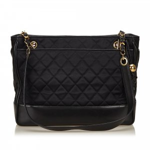 Chanel Quilted Nylon Chain Tote