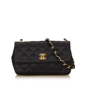 Chanel Borsa a tracolla nero Viscosa