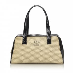 Chanel Quilted Wool Shoulder Bag