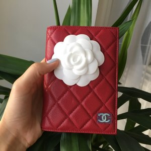 Chanel Card Case red