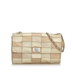 Chanel Shoulder Bag beige suede