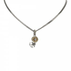 Chanel Rhinestone CC Necklace