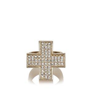 Chanel Bague doré métal