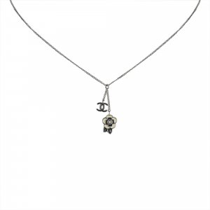 Chanel Rhinestone Studded CC Necklace