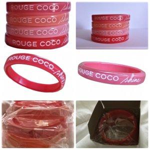 "Chanel Rouge Armband  4 Armbänder gestempelt ""Rouge Coco Shine""Neu mit Box"