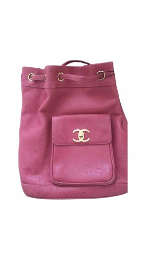 Chanel Laptop Backpack raspberry-red-pink