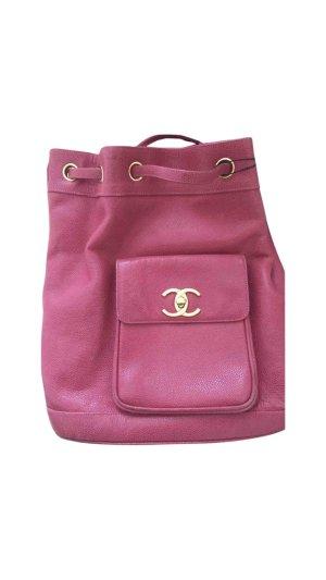 Chanel Zaino laptop rosso lampone-rosa