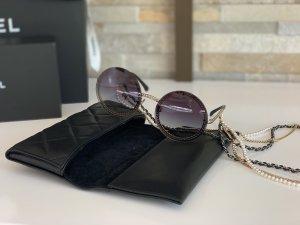 CHANEL runde Sonnenbrille mit Kette, aktuelle Kollektion, NEU und 100% Original