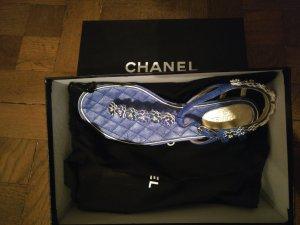 Chanel Sandalias con talón descubierto azul