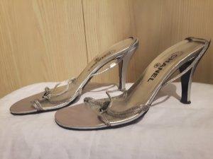 Chanel Sandaletten silber