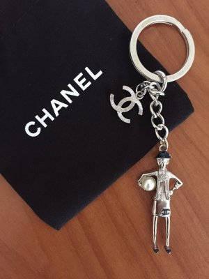 Chanel Key Chain silver-colored