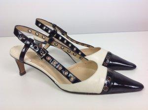Chanel Schuhe beige schwarz