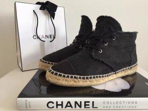 Chanel schuhe espadrilles all black gr 38