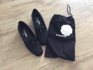 Chanel Instappers zwart Leer