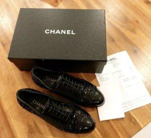 "Chanel Schuhe ""Lace up"" Schwarz 37,5"