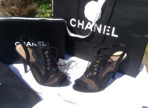 Chanel Sandaletto con tacco alto nero Pelle