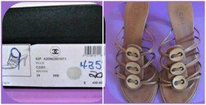 Chanel Tacco alto marrone chiaro-marrone Pelle