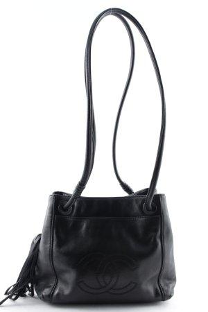 Chanel Sac porté épaule noir style classique