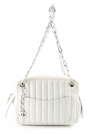 Chanel Shoulder Bag white quilting pattern business style